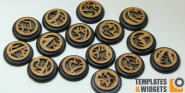 Druidic Base Inlays - 30mm