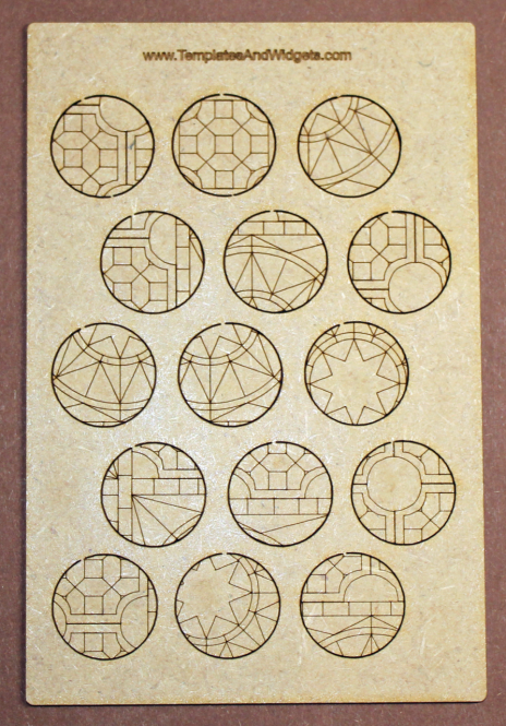 Temple Base Inlays - 30mm